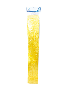 Falda hawaiana amarilla de 80 cm de largo