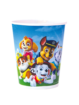 Juego de 8 vasos de la patrulla canina con todos los personajes en azul