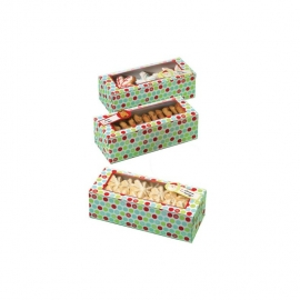 Set de 3 cajas rectangulares copos de nieve