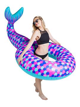 Hinchable gigante de sirena de colores de 188 cm x 94 cm