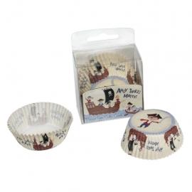 Cápsulas medianas para Cupcakes Pirate Fun