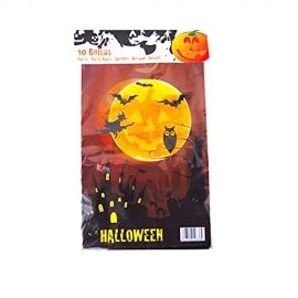 Pack de 10 bolsas para chuches Halloween