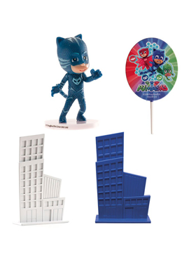Kit para decorar tartas de Gatuno de PJ Masks 4 piezas
