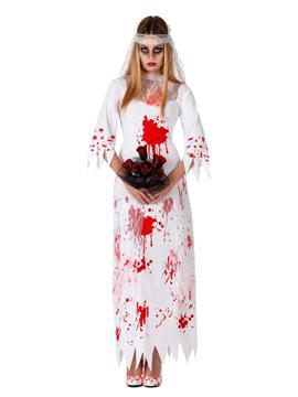 Disfraz de novia sangrienta con velo