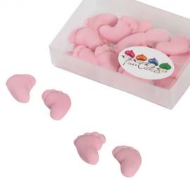 Piececitos comestibles Rosa claro Funcakes (16 uds)