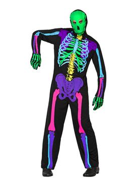 Disfraz Esqueleto Multicolor Hombre