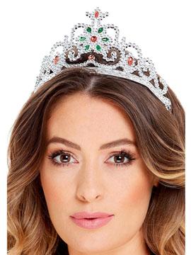 Tiara Princesa Flor Plateada
