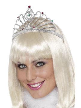 Tiara Princesa Abanico Plateada