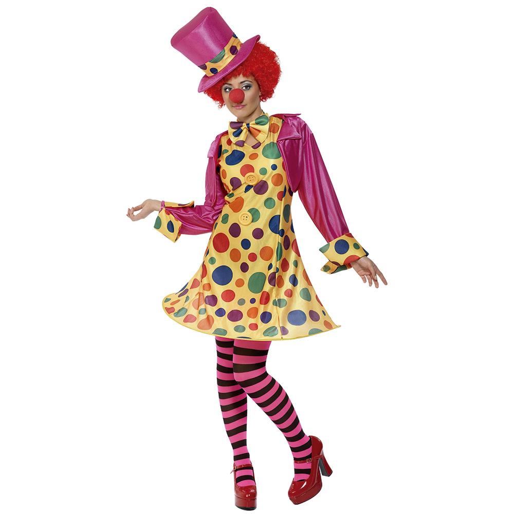 Disfraz Mujer Payasa Multicolor Adulto
