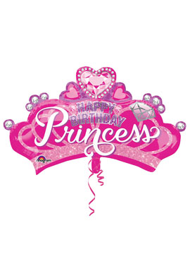 Globo Foil Corona Princesa Rosa