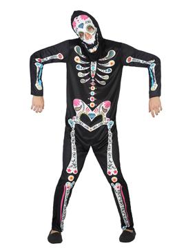 Disfraz Esqueleto Catrín Adulto