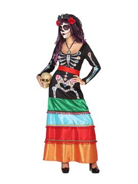 Disfraz Esqueleto Colorido Adulto