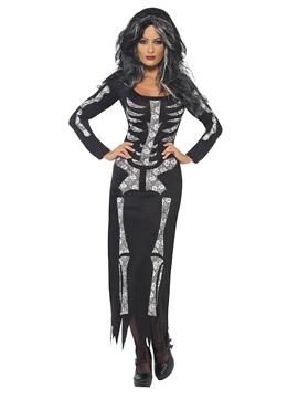 Disfraz Mujer Esqueleto Flores Adulto