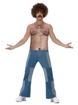 Disfraz Hombre Pecho Peludo Adulto