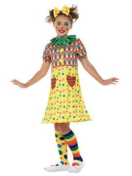 Disfraz Niña Payasa Multicolor Infantil