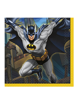 Pack de 16 servilletas de Batman de 12,5 cm