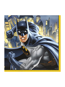 Pack de 16 servilletas de Batman de 16,5 cm