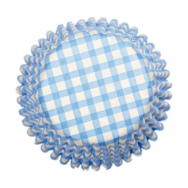 Cápsulas Cupcakes Gingham Azul