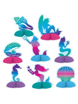 Set de 8 decoraciones para mesas dulces de sirena