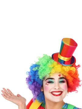 Diadema con mini sombrero de payaso