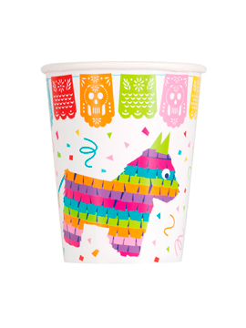 Juego de 8 Vasos Fiesta Mexicana