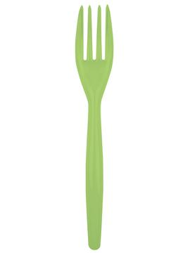 Juego de 20 tenedores de plástico en verde