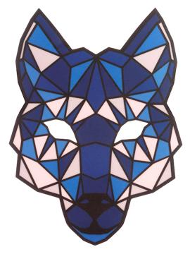 Máscara LED Audio Rítmica Lobo