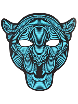 Máscara LED Audio Rítmica Puma