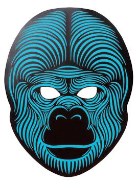 Máscara LED Audio Rítmica Gorila