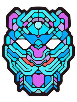 Máscara LED Audio Rítmica Tigre