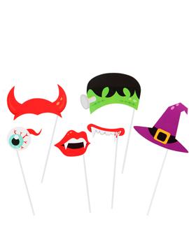 Set 6 Accesorios para Photocall Halloween