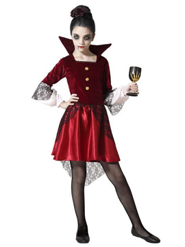 Disfraz Vampiresa Borgoña Niña
