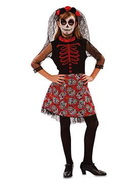 Disfraz Catrina Roja Infantil