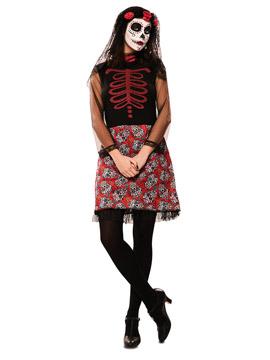 Disfraz Catrina Roja Adulto
