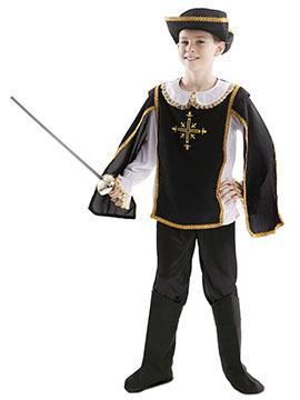 Disfraz Mosquetero Negro Infantil