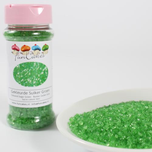 Cristales de azúcar verdes