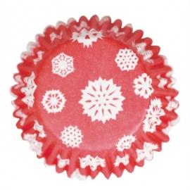 Cápsulas color rojo copos de nieve