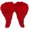 Alas de Plumas Rojas 52x45 cm