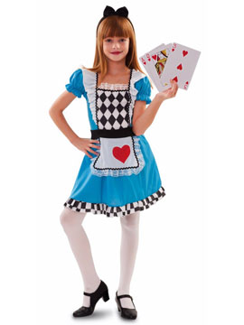 Disfraz Alicia Corazón Infantil