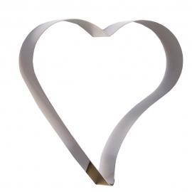 Aro para Tarta Corazón Inclinado 20 X 4,5 cm