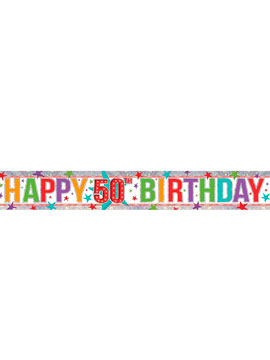 Banderín 50 cumpleaños Multicolor Brillante