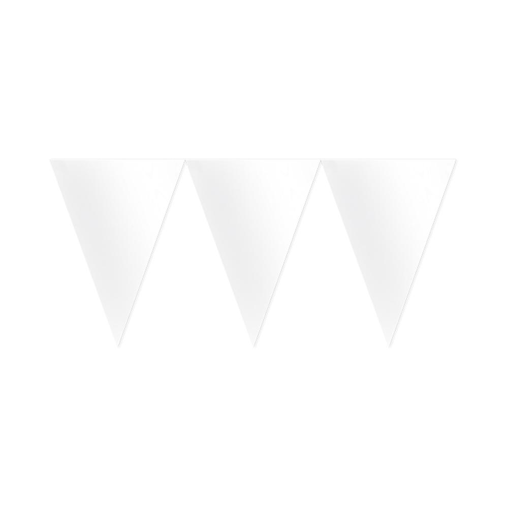 Banderín de Papel Blanco 4,5 metros