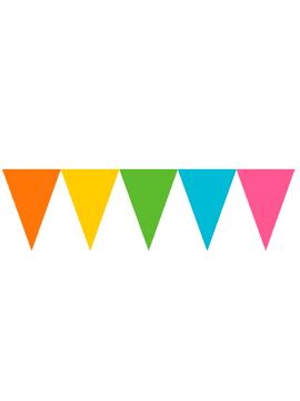 Banderín de Papel Mulicolor 4,5 metros