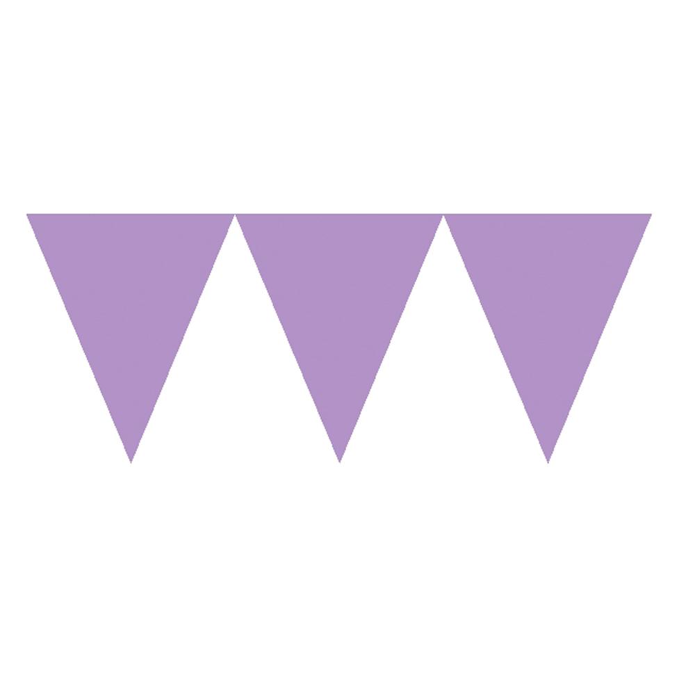 Banderín de Papel Violeta 4,5 metros