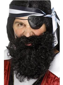 Barba de Pirata Deluxe Negra