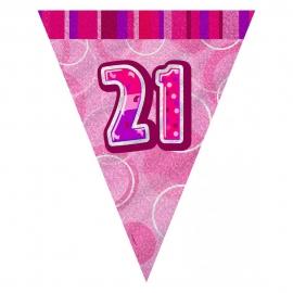 Guirnalda Nº 21 Rosa Brillante