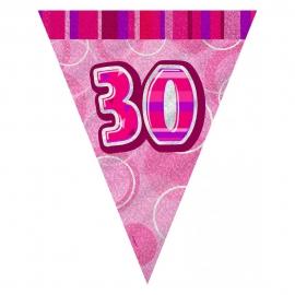 Guirnalda Nº 30 Rosa Brillante