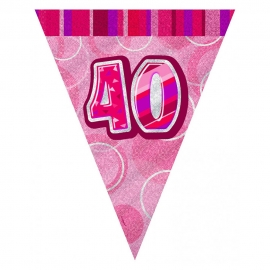 Guirnalda Nº 40 Rosa Brillante