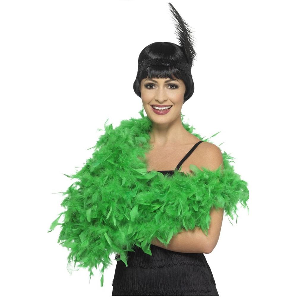 Boa de plumas verde