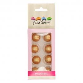 Decoraciones Bolas de Chocolate Oro 8 ud